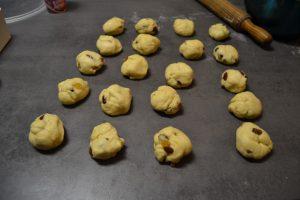 20 pâtons en boules