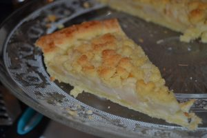 tarte crumble aux poires