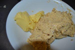 crème pâtissière et crème d'amandes