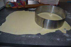 découpe de disque de pâte