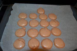 coques pour macarons caramels cuit