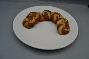 sablé marbré vanille-chocolat