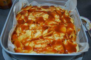caramel sur les pommes