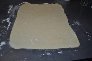 pâte étaler en rectangle