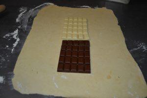 tablettes de chocolat déposer
