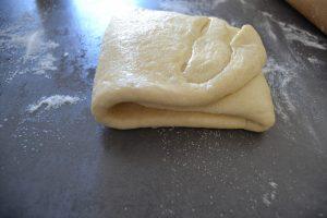 pâte plier en 3 (2 tours simple)