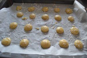 macarons brillant saupoudrer de sucre glace