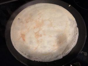2 eme face en cuisson de la crêpe