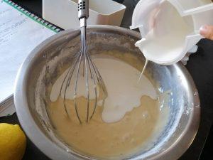 ajout de la crème liquide