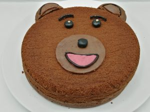 petit ours brun au chocolat