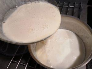 mélange remi dans la casserole