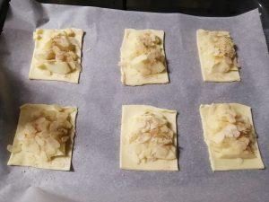 pommes saupoudrer de sucre vanillé