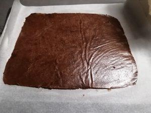 pâte cacao étaler en rectangle