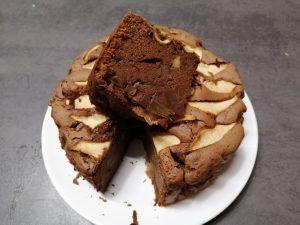 gâteau chocolat-pommes