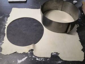 cercle de pâtes découper