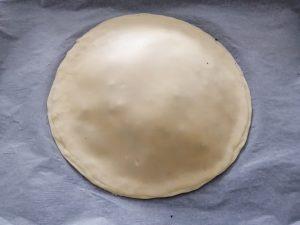 second disque de pâte déposer