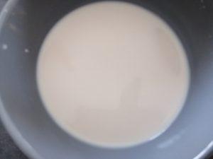 levure délayé dans le lait tiède