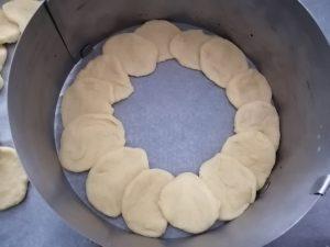 cercles disposer dans le moule