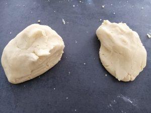 pâte couper en 2