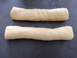 boudins de pâte façonner