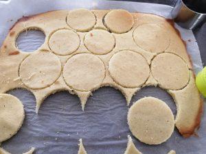disques découper dans le biscuit