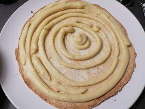 crème pocher sur le biscuit