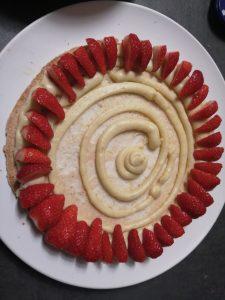 fraises poser coucher les unes à cotés des autres