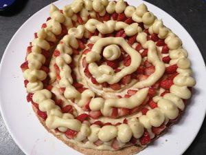 crème pocher sur les fraises