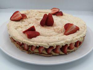 fraises couper et déposer en déco